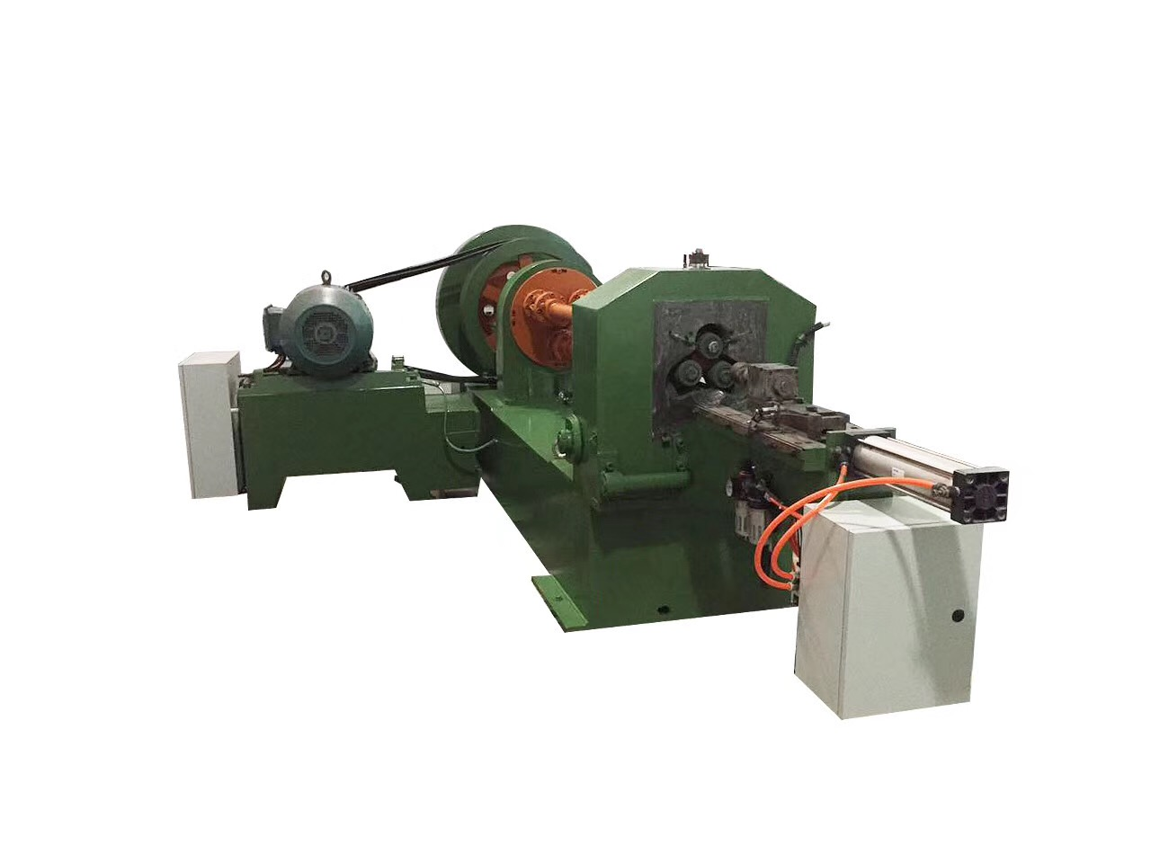 Railway spike screw thread rolling machine